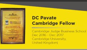 Ketan Deshpande DC Pavate Cambridge Fellow Cambridge Judge Business School